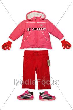 Set Of Child Clothes Stock Photo