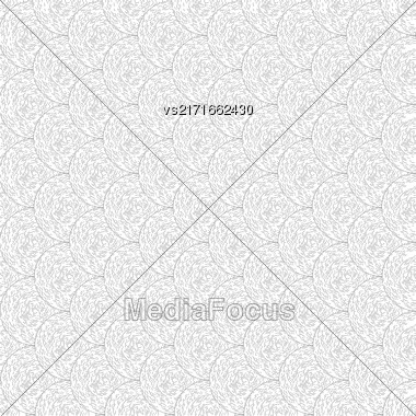 Set Of Circle Ornaments On White Background. Circle Ornamental Pattern Stock Photo