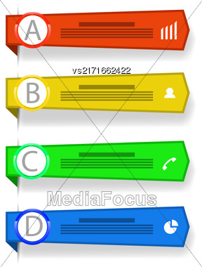 Set Of Colorful Banners Isolated On White Background Stock Photo