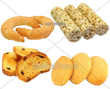 Set Of Cookies Of The Various Form Stock Photo
