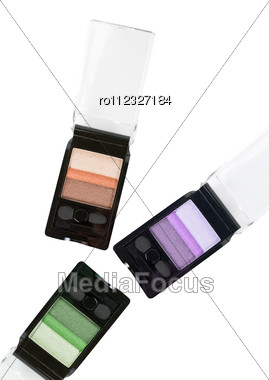Set Of Cosmetic Paints Isolated Stock Photo