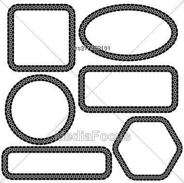 Set Of Different Frames Isolated On White Background Stock Photo