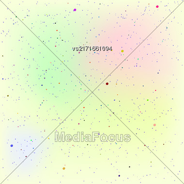 Set Of Dots. Dots On Colorful Background Stock Photo