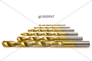 Set Of Drill Bits Stock Photo
