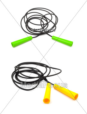 Set Of Four Different Skip Ropes Stock Photo