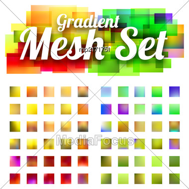 Set Of Gradient Meshes For Your Design. Vector Illustration Stock Photo