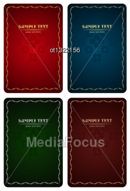 Set Of Luxury Backgrounds For Design - Vector Stock Photo