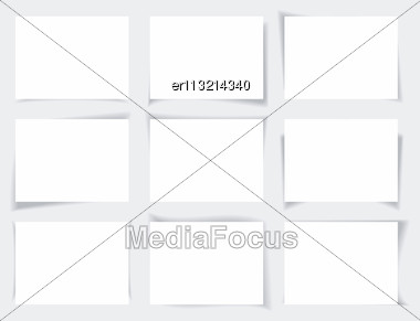 Set Of Banners With Different Shadows Stock Photo