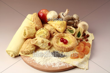 Set Of Healthy Foods Stock Photo