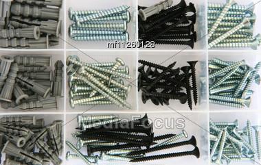 Set Of Nails Stock Photo