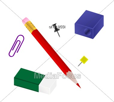 Set Of Office Goods Stock Photo