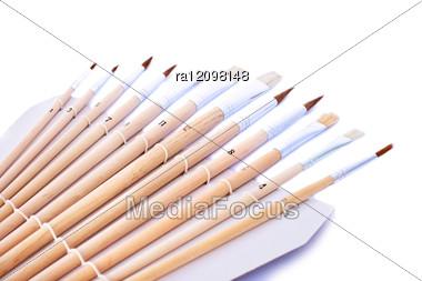 Set Of Painting Brushes Stock Photo