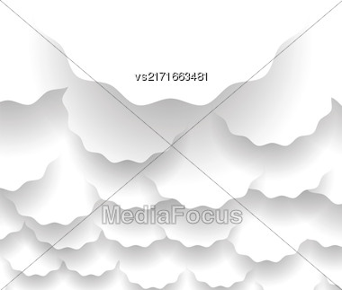 Set Of Paper Circles With Shadows On White Background Stock Photo