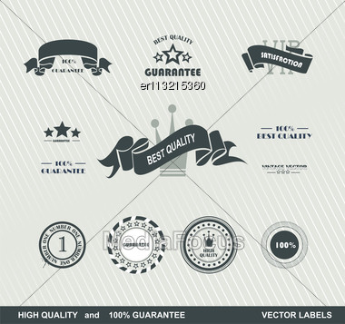 Set Of Vintage Retro Premium Quality Badges And Labels Stock Photo
