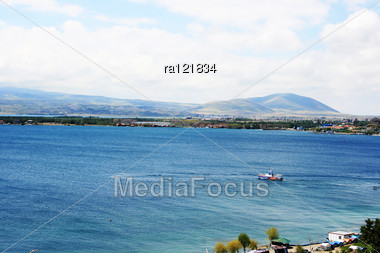 Sevan Lake In Armenia. Stock Photo