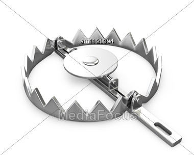 Sharp Bear Trap Stock Photo