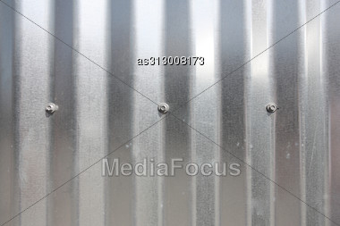 Sheet Metal, Stainless Steel Stock Photo