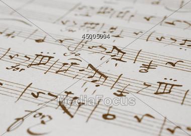 Sheet Music Background Stock Photo