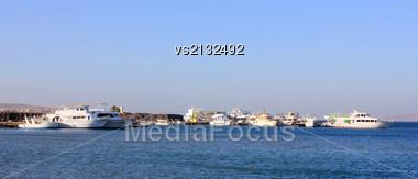 Ships In Port Stock Photo