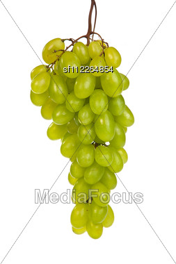 Shot Of A Bunch Of Green Grapes Laying And Stock Photo