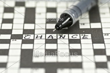 "Shot Of Crossword With Word ""chance"" Stock Photo"