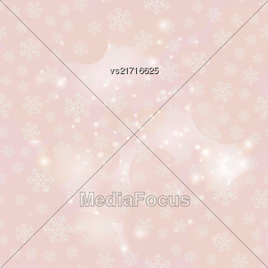Showflakes Pattern On Grey Sky Background. Winter Christmas Natural Texture Stock Photo