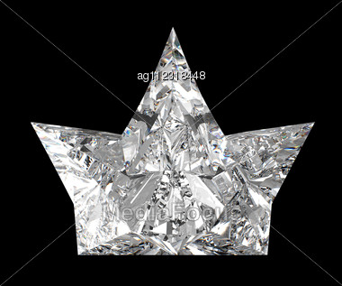 Side View Of Diamond Crown Over Black. Other Gems Are In My Portfolio. Stock Photo