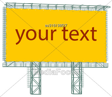 Silhouette Of Steel Structure Billboard. Vector Illustration Stock Photo