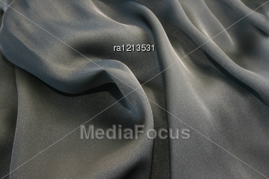 Silk Fabric As A Background. Stock Photo