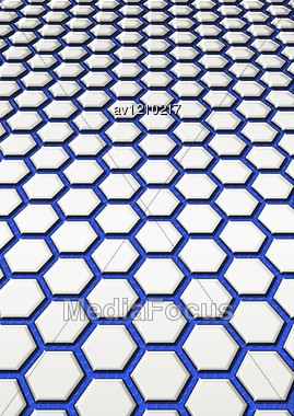 Simple Background From Leaving Afar Steel Honeycomb Stock Photo
