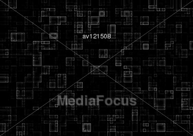 Simple Technology Background Of Mosaic Square Tiles Stock Photo