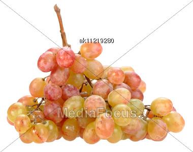 Single Bunch Of Orange-yellow Grape Close-up Studio Photography Stock Photo