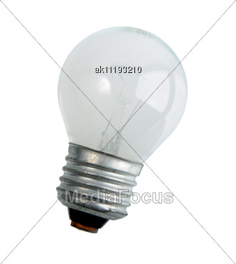 Single Compact Lighting Lamp. Close-up Stock Photo