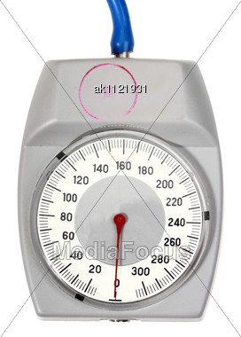 Single Indicator For Retro Sphygmomanometer Close-up Studio Photography Stock Photo