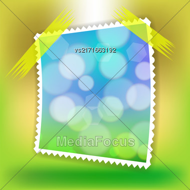 Single Photo Frame Isolated On Soft Colorful Background Stock Photo