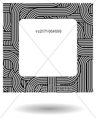 Single Striped Frame Isolated On White Background Stock Photo