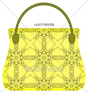 Single Womens Handbag Isolated On White Background Stock Photo