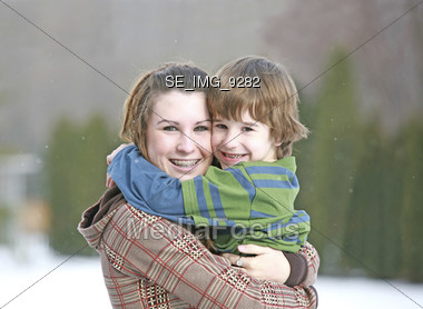 Sister Brother Stock Photo
