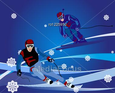 Ski-cross Illustration Stock Photo