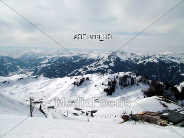Ski Downhill Slope Stock Photo