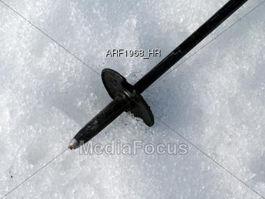 Ski Pole Stock Photo
