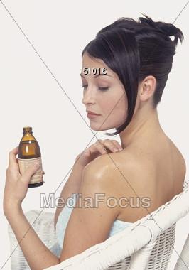 Skin Moisturizer Stock Photo