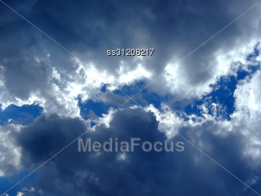 Sky Background. Sky And Clouds Background. Sky. Cloudy Background 2 Stock Photo