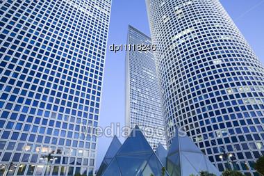 Skyscrapers, Tel-Aviv, Israel Stock Photo