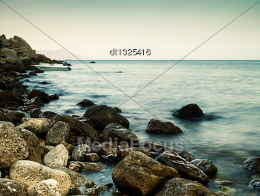 Sleeping Sea, Abstract Natural Landscape For Your Design Stock Photo