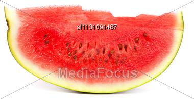 Slice Of Ripe Watermelon Stock Photo