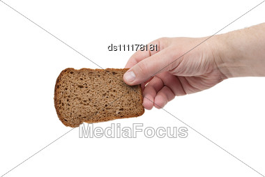 Sliced Bread Win Hand Stock Photo