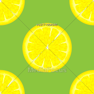 Sliced Citrus Seamless Pattern. Exotic Ftuit Background Stock Photo