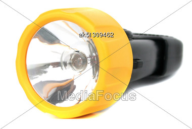 Small Black Pocket Electic Lamp Stock Photo