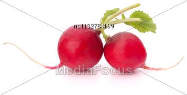 Small Garden Radish Isolated On White Background Cutout Stock Photo
